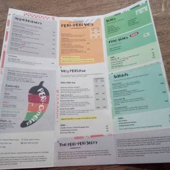 Nandos Menu- Food review